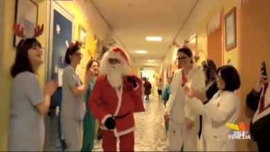 Flash mob di Natale in Pediatria all'ospedale di San Donà di Piave