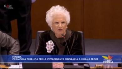 Liliana Segre cerimonia pubblica per la cittadinanza onoraria