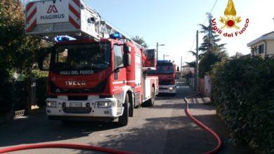 Incendio in una villetta a Favaro Veneto