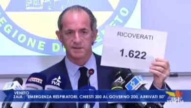 Coronavirus, Zaia: chiesti 200 respiratori, arrivati 50