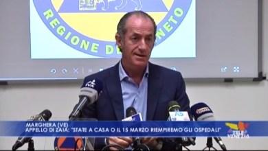 """Coronavirus, Zaia: """"state a casa o il 15 marzo riempiremo gli ospedali"""""""