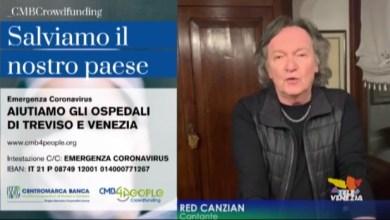 Red Canzian: stiamo a casa e aiutiamo gli ospedali