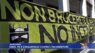 VIDEO: Inceneritore di Marghera: la protesta di Verdi, PD e Cinque Stelle - Televenezia