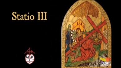 Via crucis in Vetro di Murano: la terza stazione