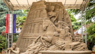 Jesolo: nuove sculture di sabbia 2021