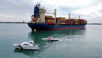Nave portacontainer incagliata al largo di Cortellazzo