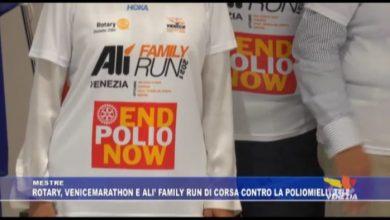 Mestre: Rotary, Venicemarathon e Alì Family Run di corsa contro la poliomielite - TeleVenezia