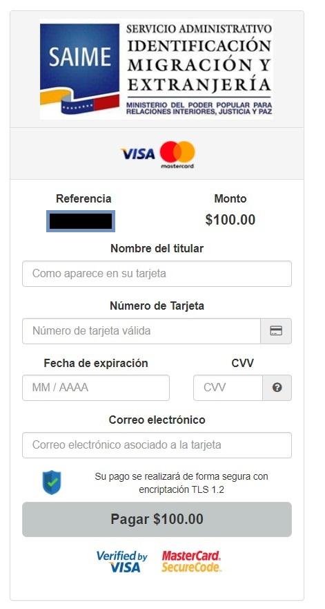 pago online al saime