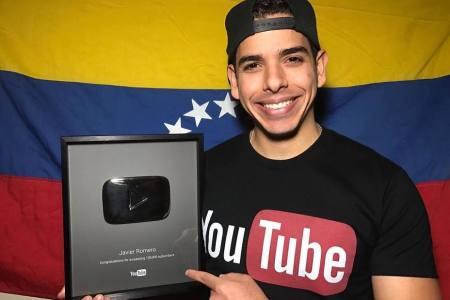 YouTube premia al humorista venezolano Javier Romero con un botón de plata