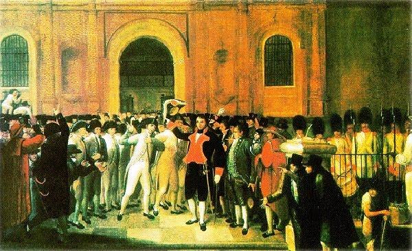 Pintura de lo que ocurriera el 19 de abril de 1810 en Caracas
