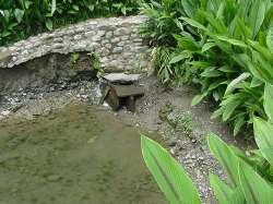 Manantial de agua en el lugar de la aparición