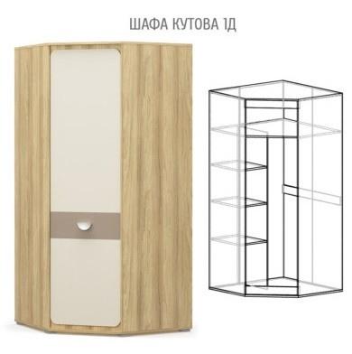 Лами Шкаф угловой (Мебель Сервис)