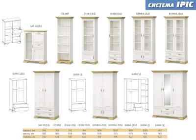 Шкаф 3 Д Ирис (Мебель Сервис)