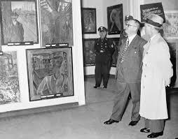 Joseph Goebbels at the opening of the 'Degenerate Art' exhibition in Berlin, 1938 / © SZ Photo / Scherl / The Bridgeman Art Library
