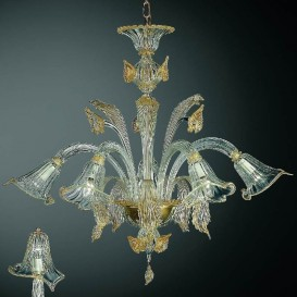 Aqua Murano Glass Chandelier