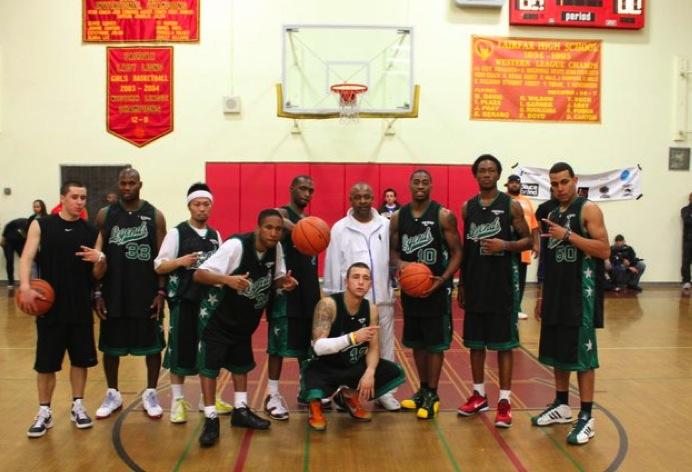 Entertainment basketball league celebrity team