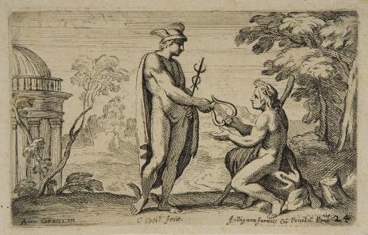 Hermes dona ad Apollo la lira
