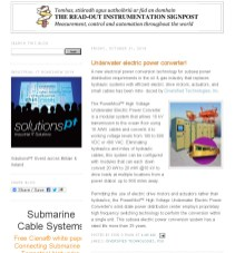 Diversified Tech Read-out Instrumentation Signpost_ Underwater electric power converter!
