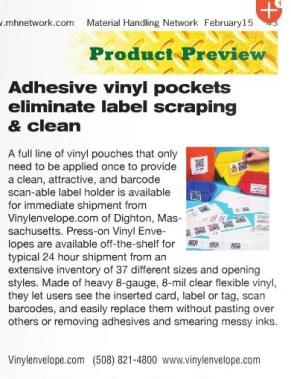 Vinylenvelope Material Handling Netwrk