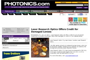 Laser Research Optics Offers Credit for Damaged Lenses _ business _ Jan 2014_Page_1