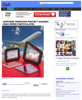 SAPPHIRE WINDOWS PROTECT AGAINST HIGH SPEED PARTICULATES_Page_1