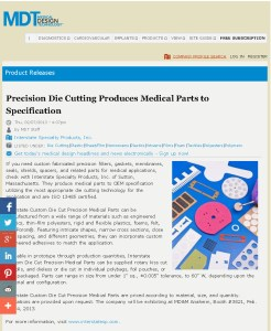 Precision Die Cutting Produces Medical Parts to Specification_Page_1