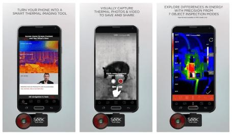 Seek Thermal infrared camera app