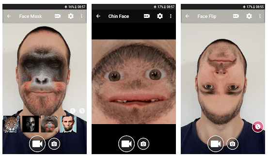 face changer camera funny face apps