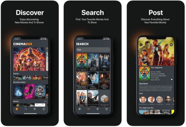 Cinema Box apps like showbox