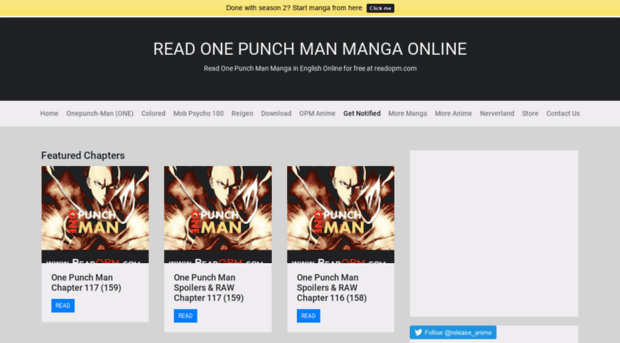 Readopm Read One Punch Man Webcomic