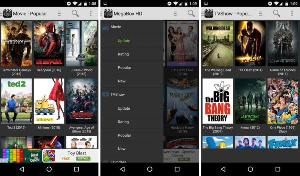 Site Like Showbox Megabox HD