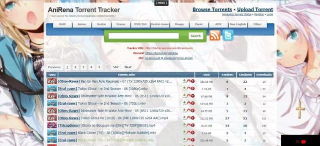 anirena anime torrent sites