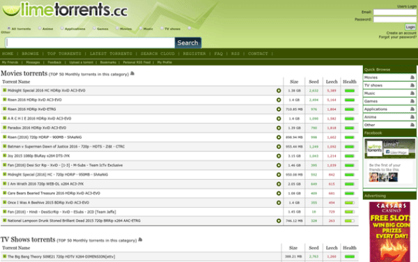 limetorrents anime torrent sites