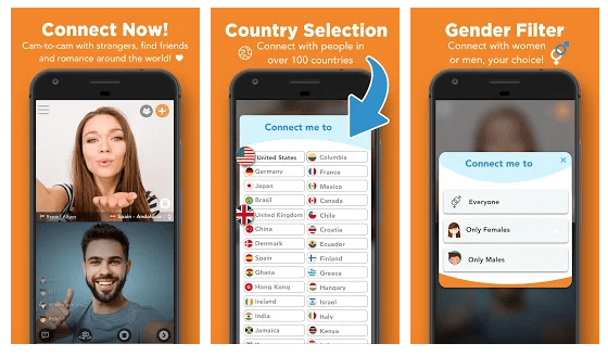 Camsurf Chatroulette apps for android ios