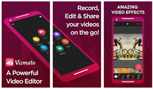 Vizmato video editor slideshow maker