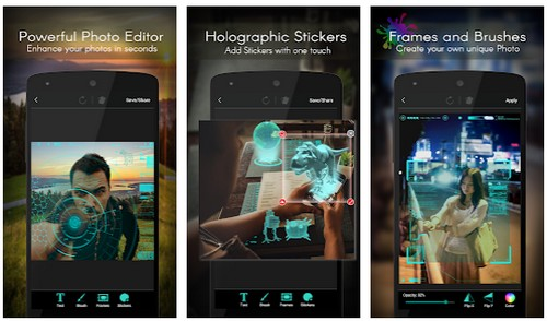 AR Photo Editor – Jarvis Hologram
