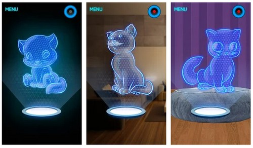 Hologram Kitty 3D Simulator