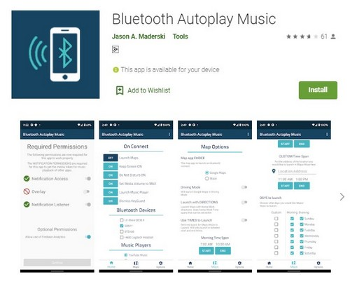 Bluetooth Autoplay Music app