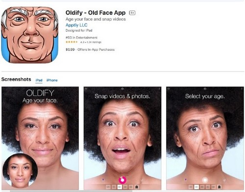 Oldify Old Face App