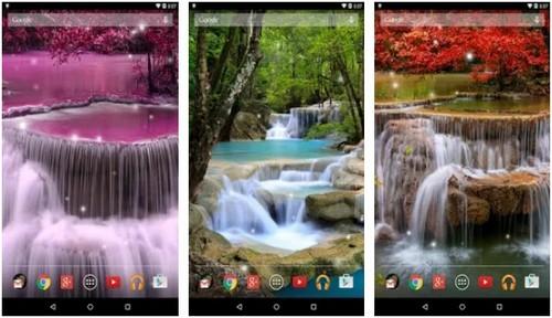 Waterfall Live Wallpaper screen saver app