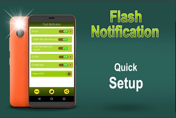 Flash Notification On Call SMS App Notification