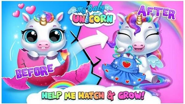 My Baby Unicorn Virtual Pony Pet Care Dress Up