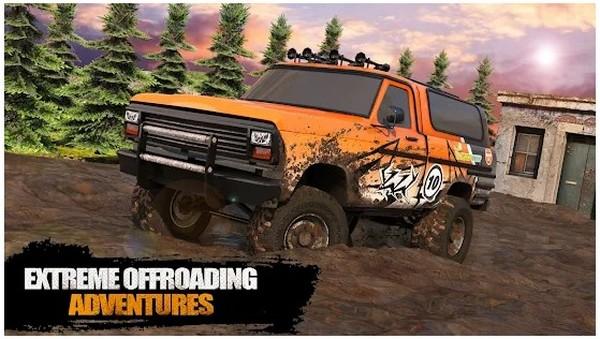 Offroad Mud Truck Driving Cargo Truck 3d