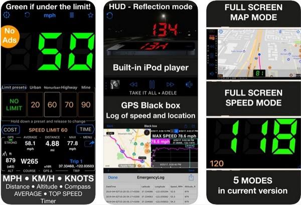 Speedometer 55 GPS Speed HUD