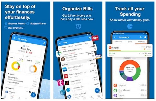 TimelyBillsBills reminder money manager