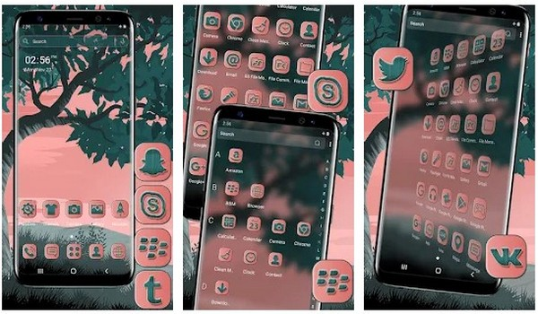 Pink Sky Launcher Theme