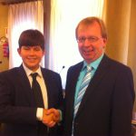 Roberto Verza con il sindaco di Viernheim