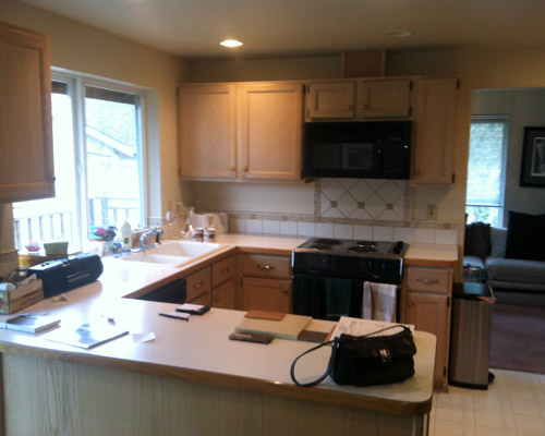 White Floor White Kitchen