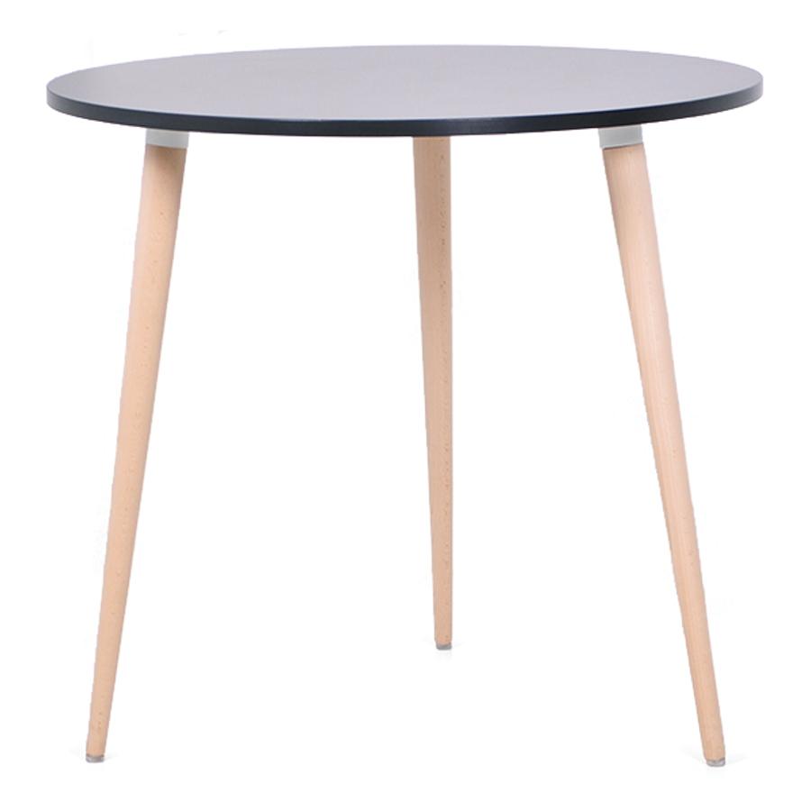 table ronde scandinave en bois pour chr