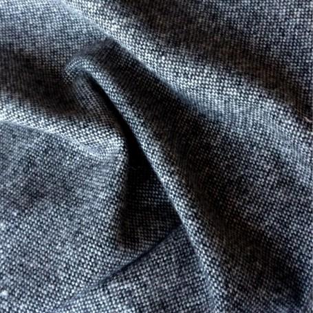 tissu rideaux au metre tissu tweed laine donegal tissu chine blanc et noir
